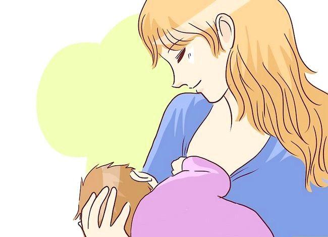 Prent getiteld Borsvoeding in `n Baby Carrier Stap 5