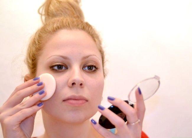 Prent getiteld Doen Ballet Make-up Stap 2