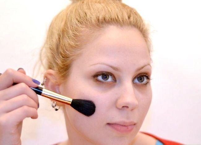Prent getiteld Doen Ballet Make-up Stap 3