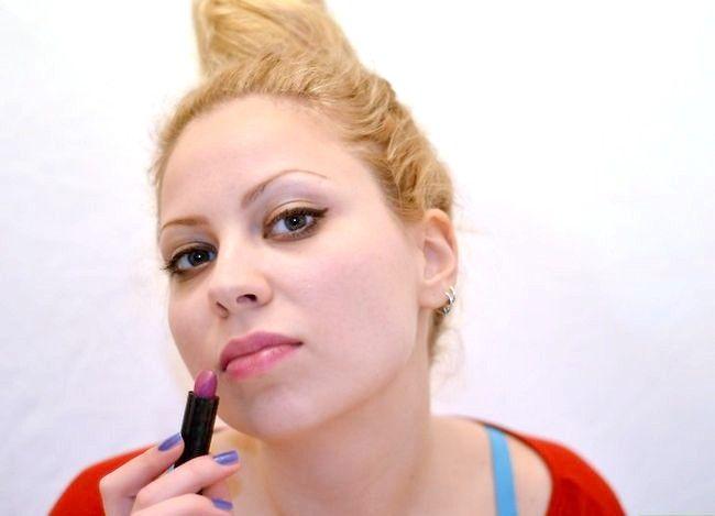 Prent getiteld Doen Ballet Make-up Stap 8