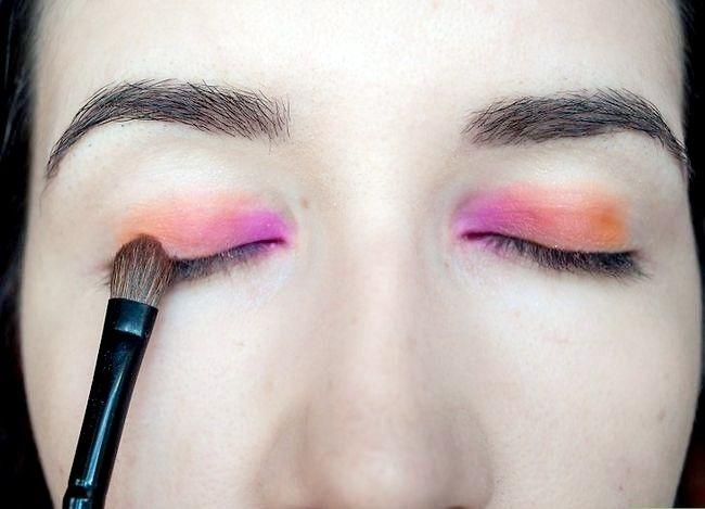 Prent getiteld Doen Rainbow Eye Shadow Stap 3