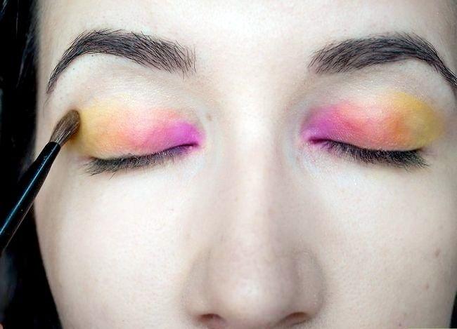 Prent getiteld Doen Rainbow Eye Shadow Stap 4