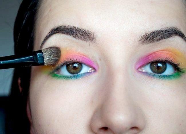 Prent getiteld Doen Rainbow Eye Shadow Stap 7