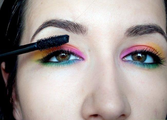 Prent getiteld Doen Rainbow Eye Shadow Stap 8