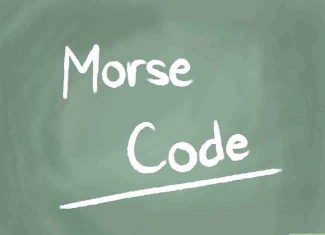 Prent getiteld Learn Morse Code Stap 11
