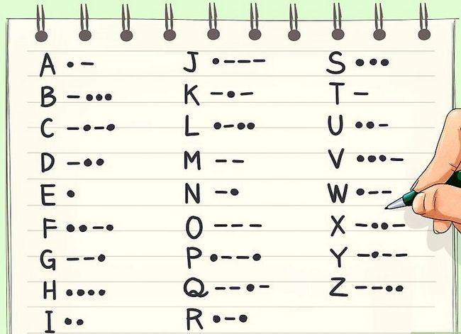 Prent getiteld Learn Morse Code Step 2