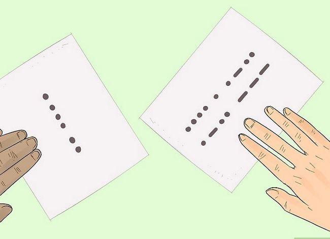Prent getiteld Learn Morse Code Stap 9