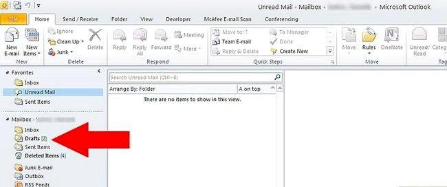 Prent getiteld Argief in Outlook 2010 Stap 18