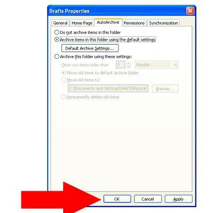 Prent getiteld Argief in Outlook 2010 Stap 18Bullet1