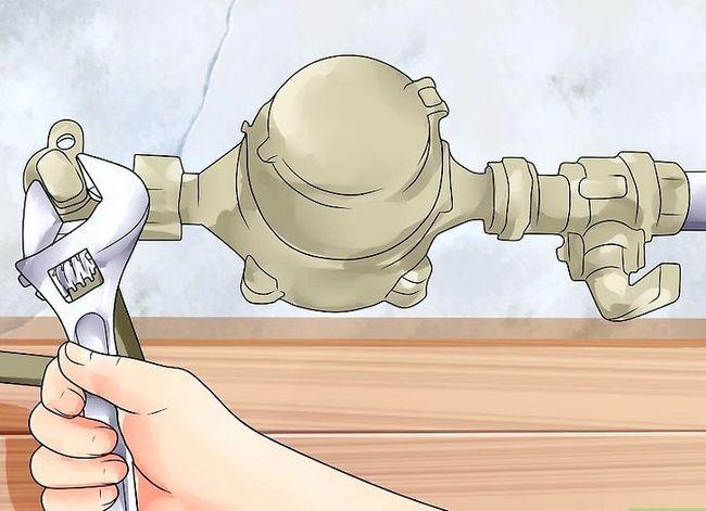 Prent getiteld Probleemoplossing Lae waterdruk Stap 5
