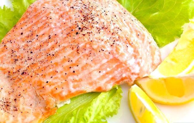 Prent getiteld Broil Salmon Stap 11