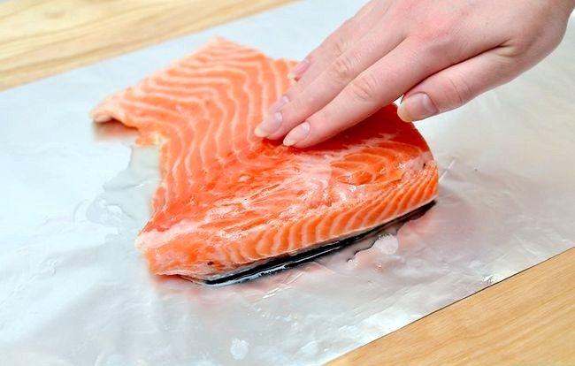 Prent getiteld Broil Salmon Step 5
