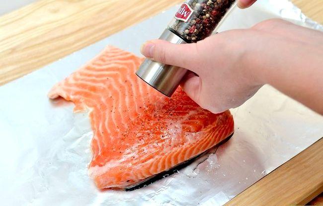 Prent getiteld Broil Salmon Step 6