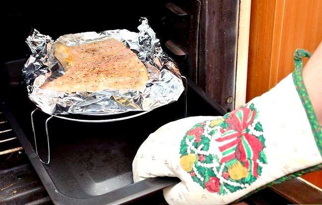 Prent getiteld Broil Salmon Step 9