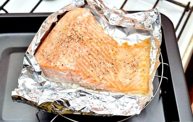 Prent getiteld Broil Salmon Step 10