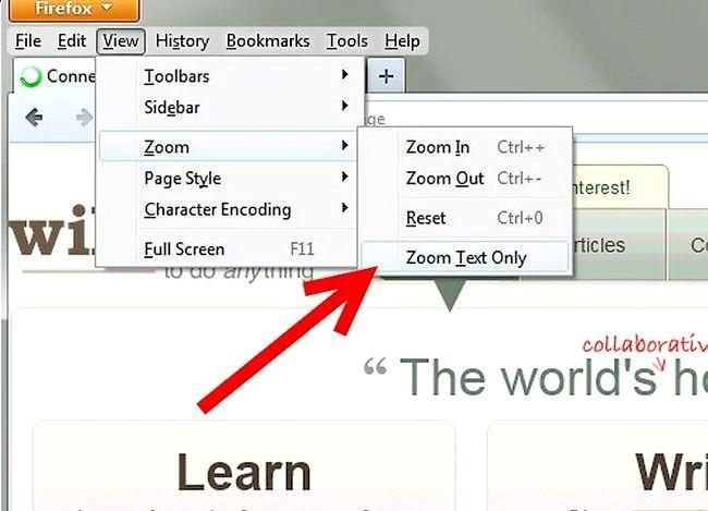 Prent getiteld Zoom Met `n webblaaier Stap 2