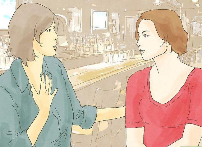 Prent getiteld Kus `n meisie op die eerste ontmoeting. Stap 13