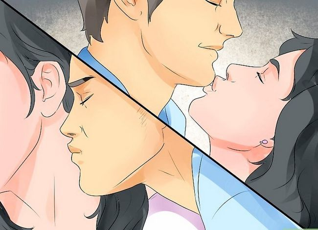 Prent getitel Kiss Passionately Without Tong Step 8