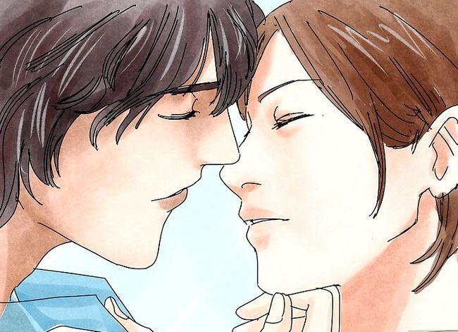 Prent getiteld Kiss Passionately Stap 4