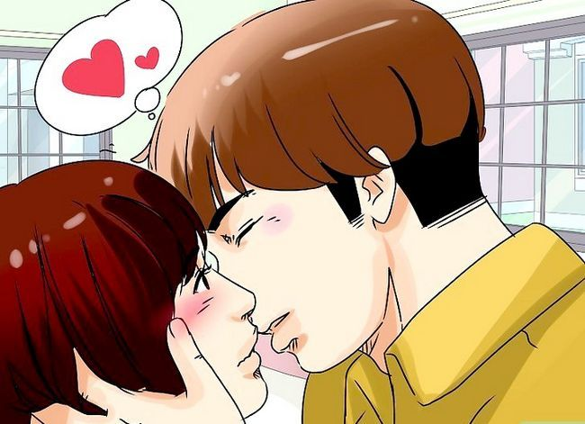 Prent getiteld Kiss a Girl`s Neck Step 10