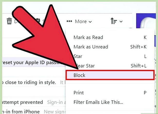 Prent getiteld Block Junk Mail Stap 19