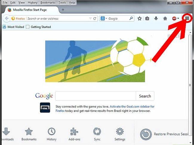 Prent getiteld Blok Pop-ups in Firefox Stap 2