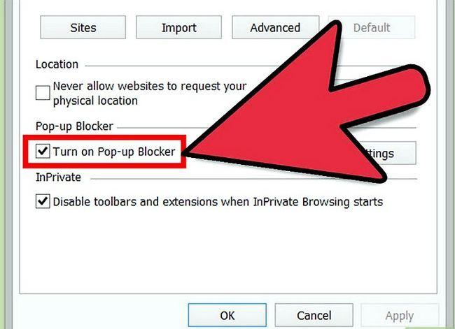 Beeld getiteld Blok Pop Ups op Windows 8 Stap 5