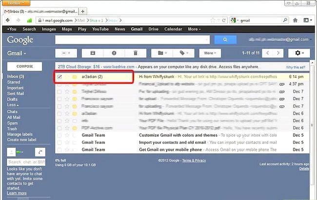 Prent getiteld Blok Senders in Gmail Stap 1