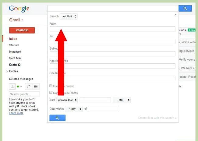 Prent getiteld Blok `n e-pos op Gmail Stap 3