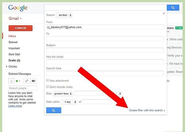 Prent getiteld Blok `n e-pos op Gmail Stap 4