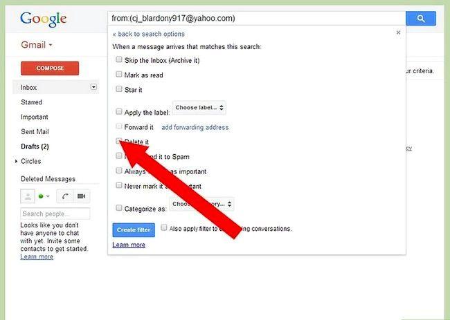 Prent getiteld Blok `n e-pos op Gmail Stap 5