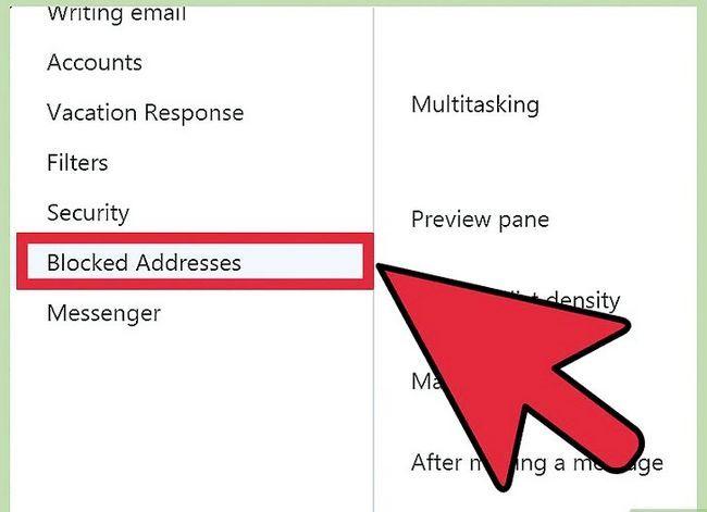 Prent getiteld Blok `n epos adres op Yahoo! Stap 4