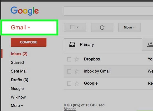 Prent getiteld Verwyder kontakte uit Gmail Stap 2