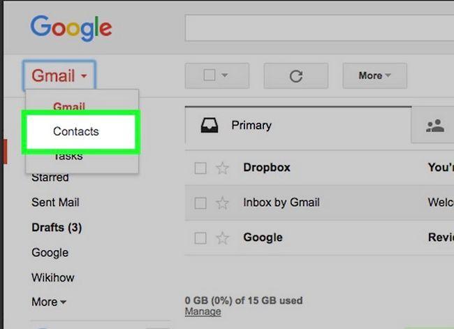 Prent getiteld Verwyder kontakte uit Gmail Stap 3