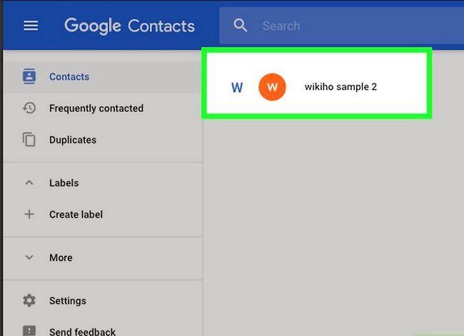 Prent getiteld Verwyder kontakte uit Gmail Stap 4