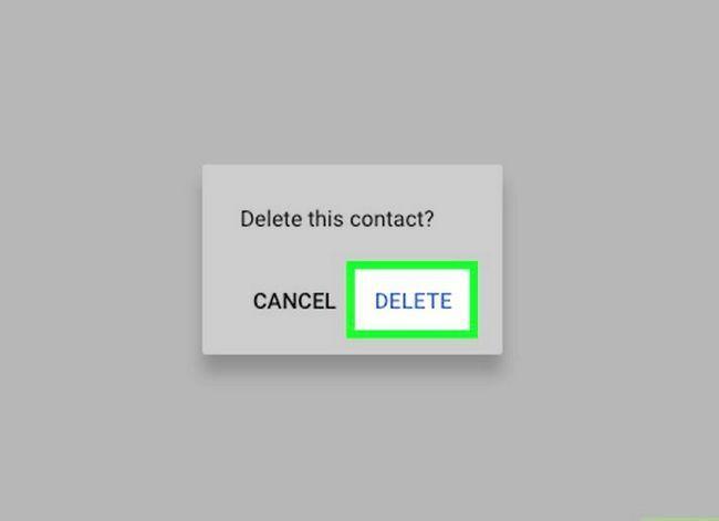 Prent getiteld Verwyder kontakte uit Gmail Stap 7