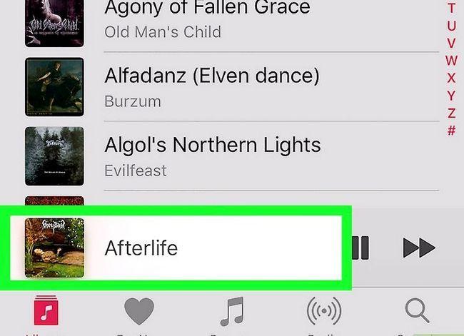 Prent getiteld Verwyder musiek op jou iPhone Stap 15