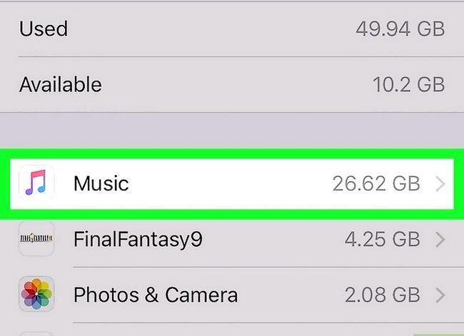 Prent getiteld Verwyder musiek op jou iPhone Stap 5