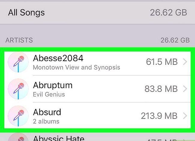 Prent getiteld Verwyder musiek op jou iPhone Stap 6