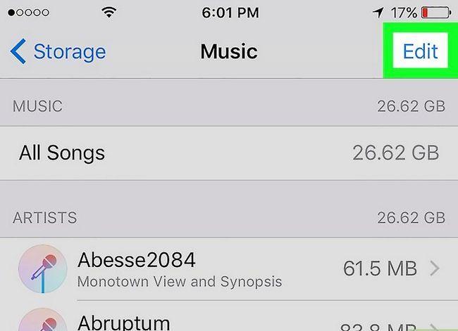 Prent getiteld Verwyder musiek op jou iPhone Stap 7