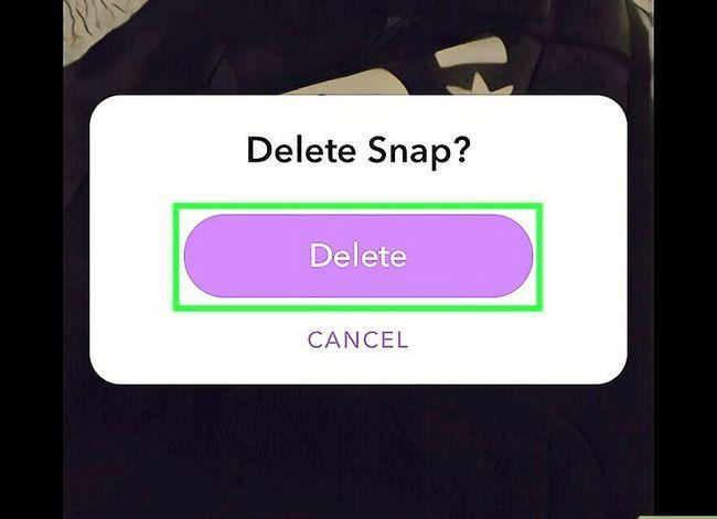 Prent getiteld `n Snap verwyder op Snapchat Stap 12
