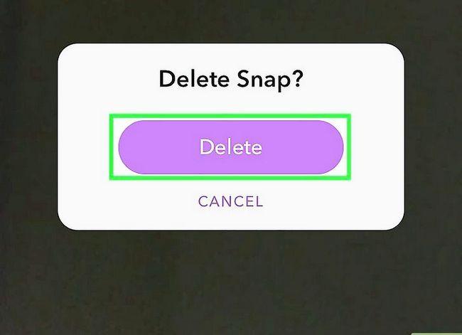 Prent getiteld `n Snap verwyder op Snapchat Stap 6
