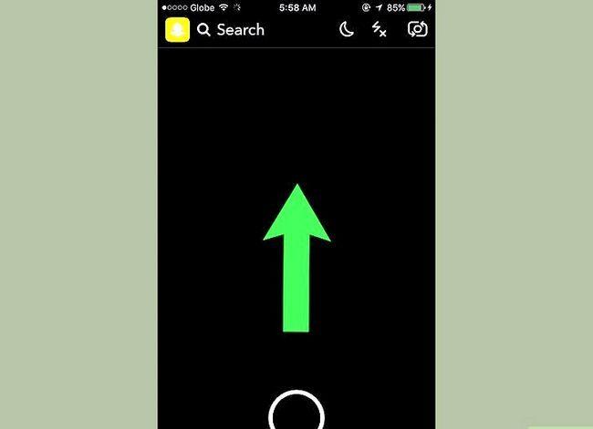 Prent getiteld `n Snap verwyder op Snapchat Stap 8