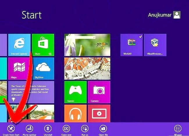 Prent getiteld `n program verwyder op Windows 8 Stap 11
