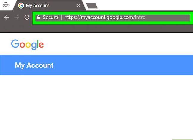 Prent getiteld Verwyder `n Google of Gmail rekening Stap 1