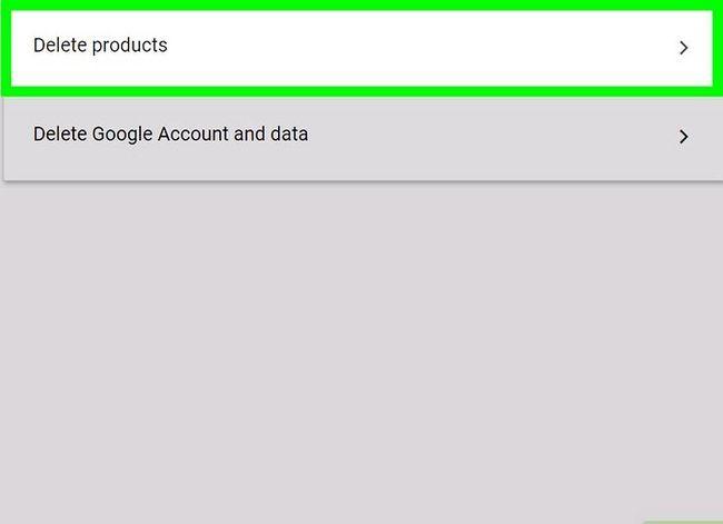 Prent getiteld `n Google of Gmail rekening stap 16 verwyder