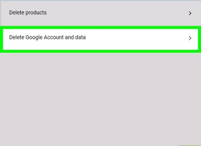 Prent getiteld `n Google of Gmail rekening stap 5 verwyder