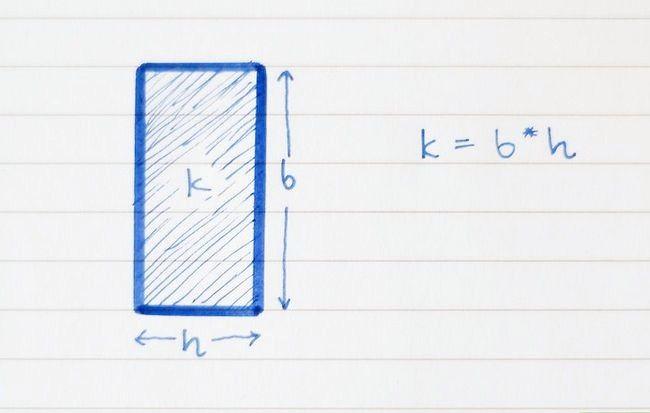 Prent getiteld Vind die oppervlakte van `n vierhoekige stap 3