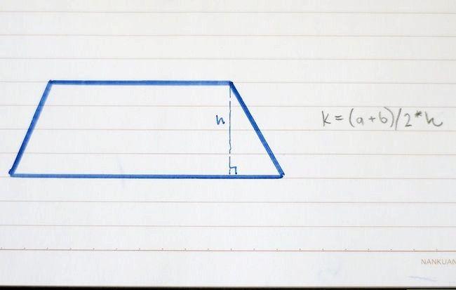 Prent getiteld Vind die area van `n vierhoekige stap 7