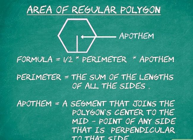 Prent getiteld Bereken die oppervlakte van `n veelhoek Stap 1